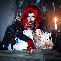 bloodrayne_vs_butcheress_cosplay_by_elenasamko-d9dim36